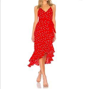 Brand new red polka dot dress